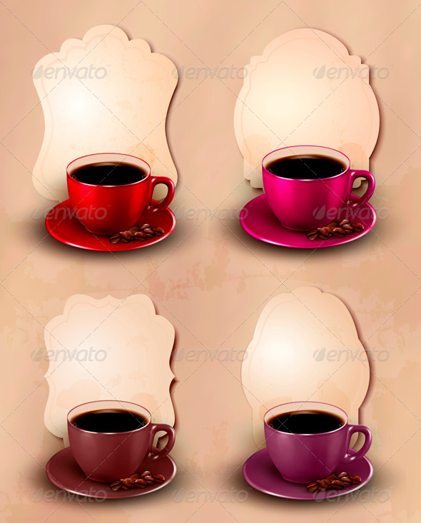GraphicRiver Set of coffee design template Vector 4047531