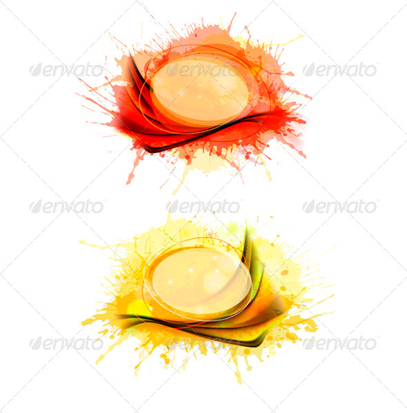 GraphicRiver Collection of colorful abstract watercolor banners 4047539