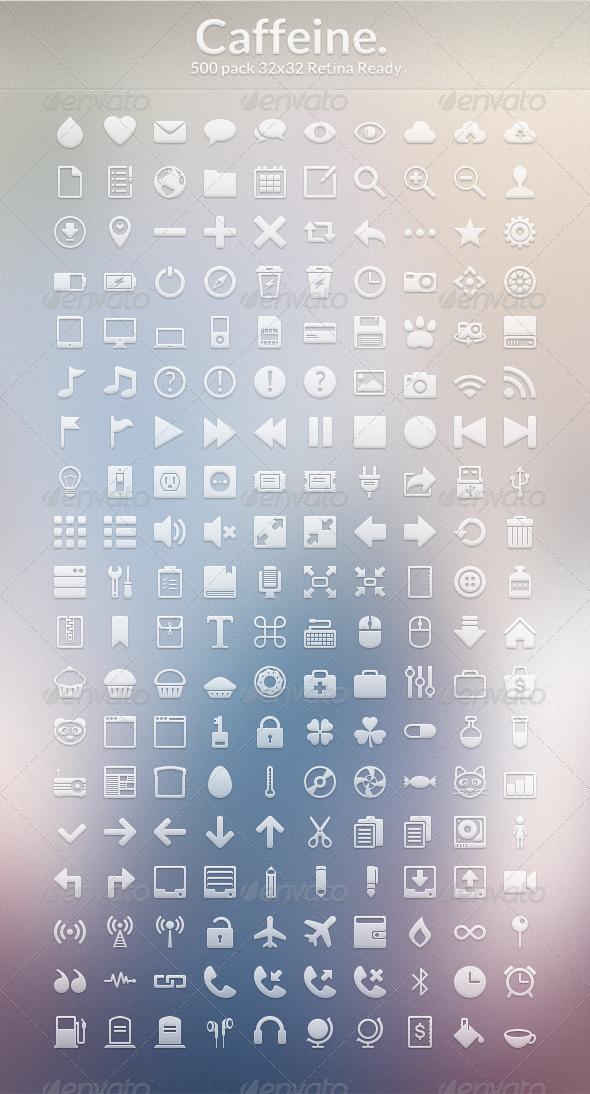 GraphicRiver Caffeine Icon Set PSD 4047541