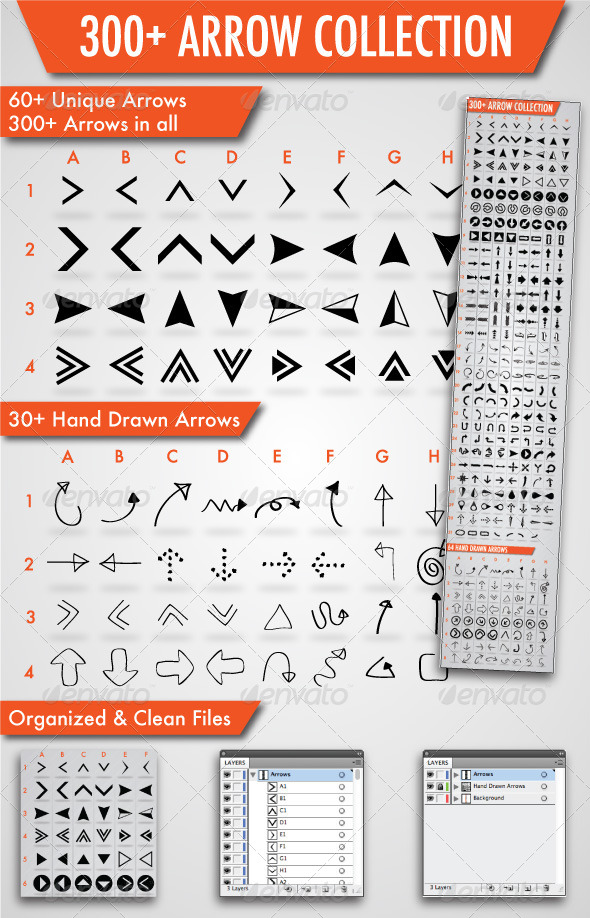 GraphicRiver 300& Arrows Collection 4047584