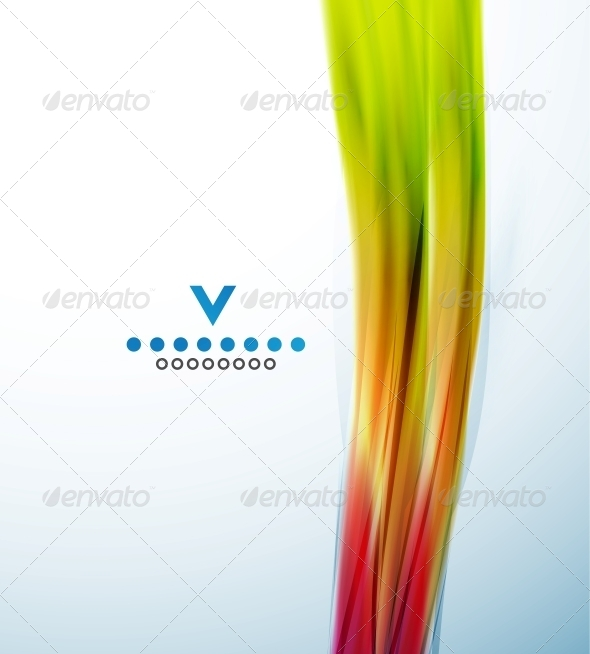 Colorful narrow wave abstract design template