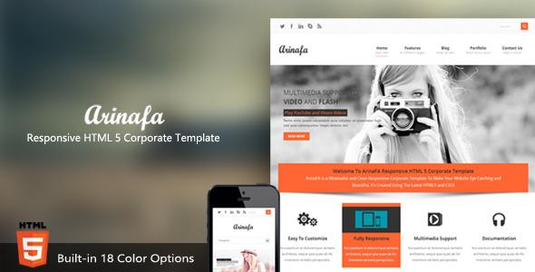 ArinaFA Responsive HTML 5 Corporate Template