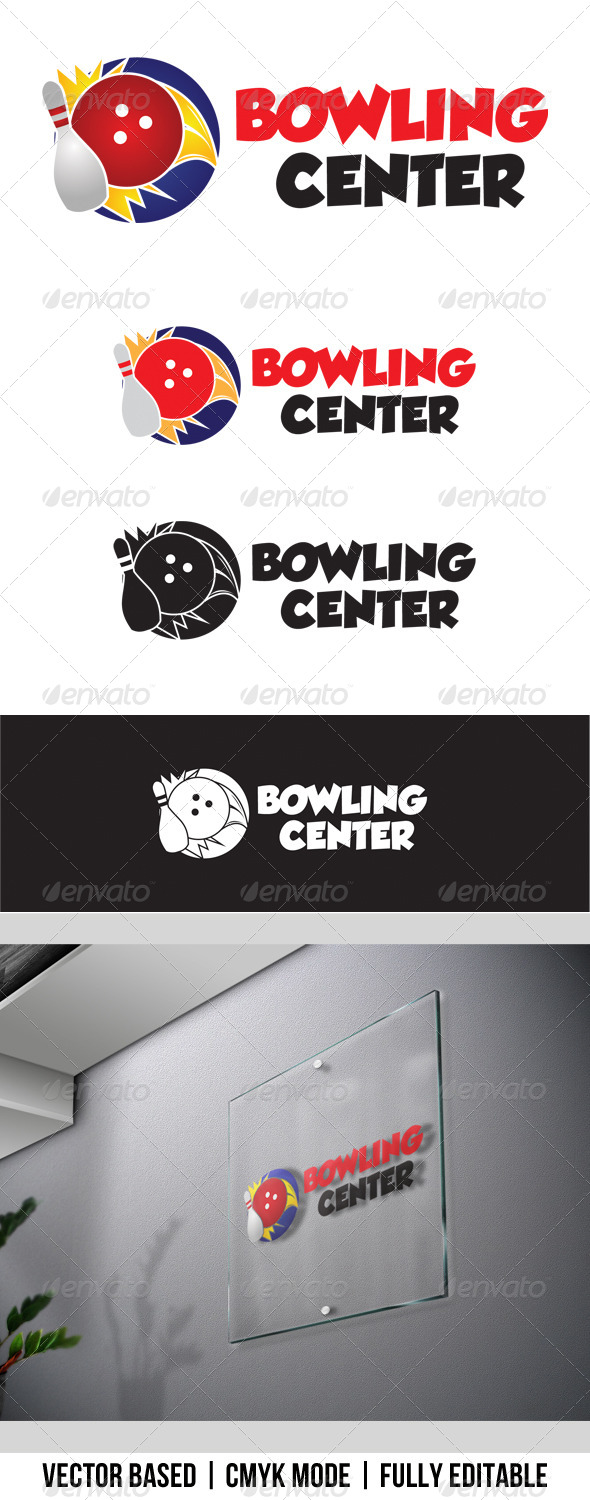 GraphicRiver Bowling Center Logo 3829722