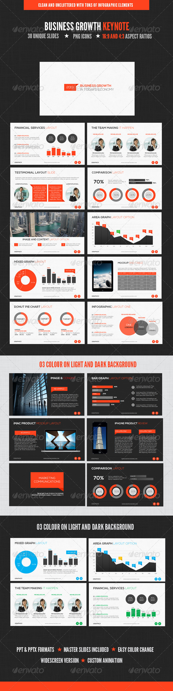 GraphicRiver Business Growth Keynote 4047697
