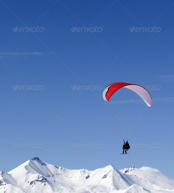 Speed riding in high mountains - Stock Photo - Images