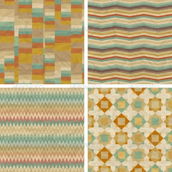 GraphicRiver Seamless retro geometric patterns 4047813