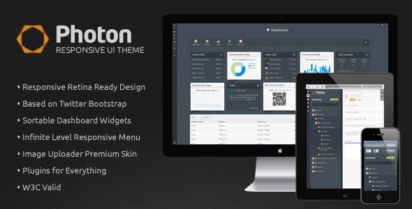 ThemeForest Photon UI Responsive Admin Panel Theme 3995029