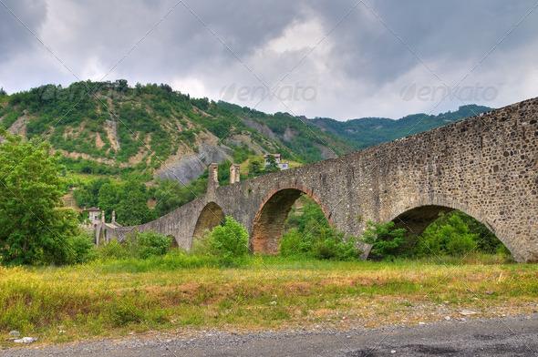 PhotoDune Hunchback bridge Bobbio Emilia-Romagna Italy 4048771