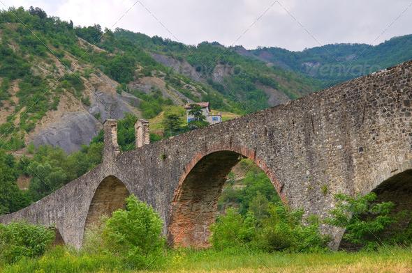 PhotoDune Hunchback bridge Bobbio Emilia-Romagna Italy 4048783