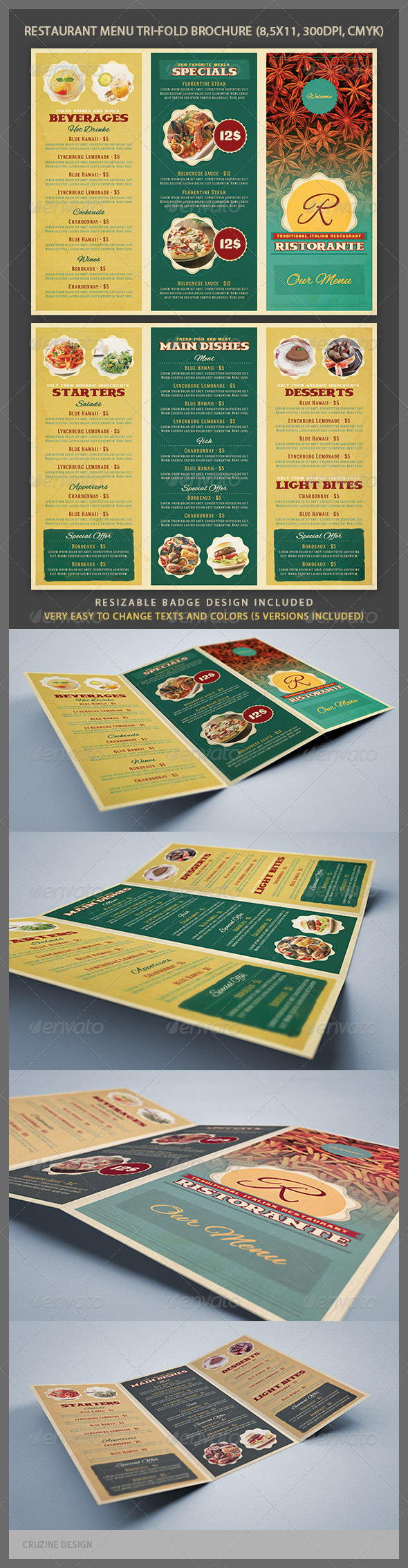 GraphicRiver Restaurant Menu Tri-fold Brochure 4048749