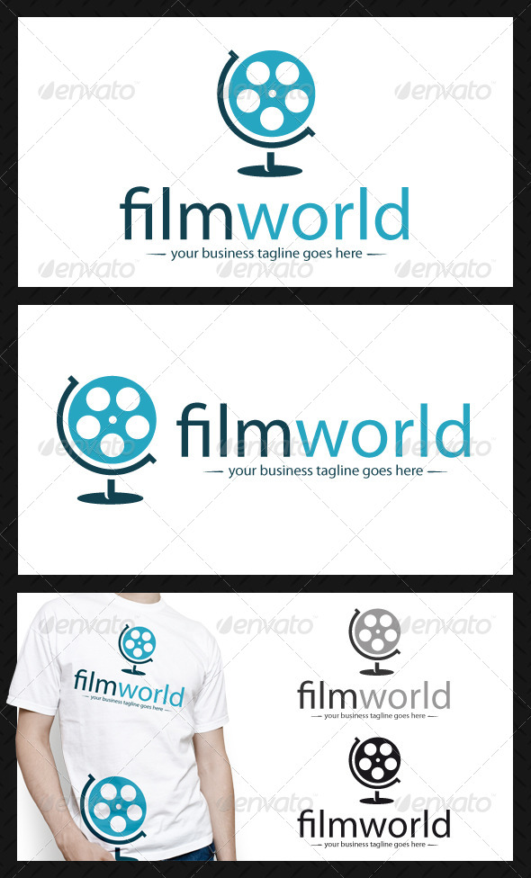 GraphicRiver World Movie Logo Template 3919906