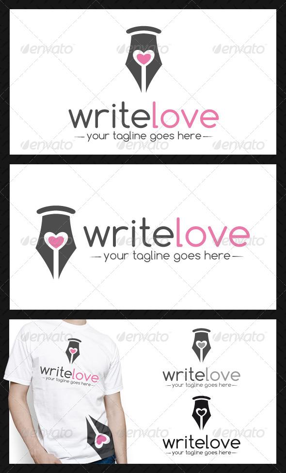 GraphicRiver Pen Love Logo Template 3915825