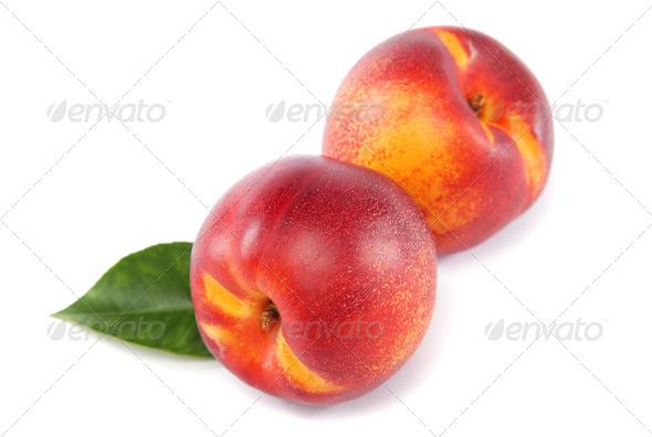 PhotoDune Fresh nectarines isolated on a white background 4049238