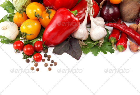 PhotoDune Healthy food Fresh vegetables on a white background 4049250