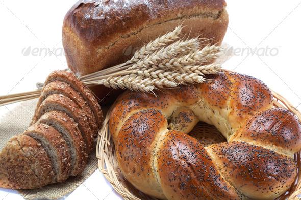 PhotoDune Fresh breads isolated on white background 4049251