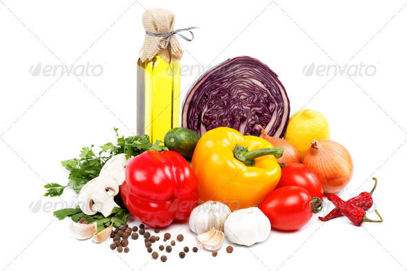 PhotoDune Healthy food Fresh vegetables on a white background 4049255