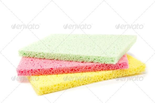 PhotoDune Sponges cleaning kit isolated on white background 4049267