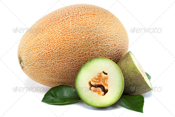 PhotoDune Melon on a white background 4049276