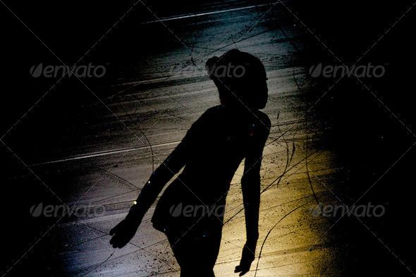 PhotoDune Ice skater silhouette 4049198