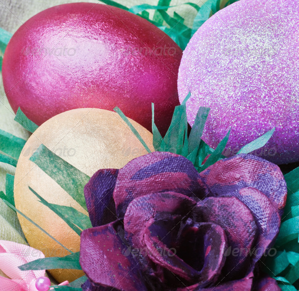 PhotoDune easter eggs and rose from the egg packaging 4081650
