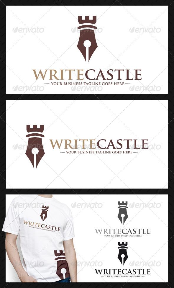 GraphicRiver Pen Castle Logo Template 3915595
