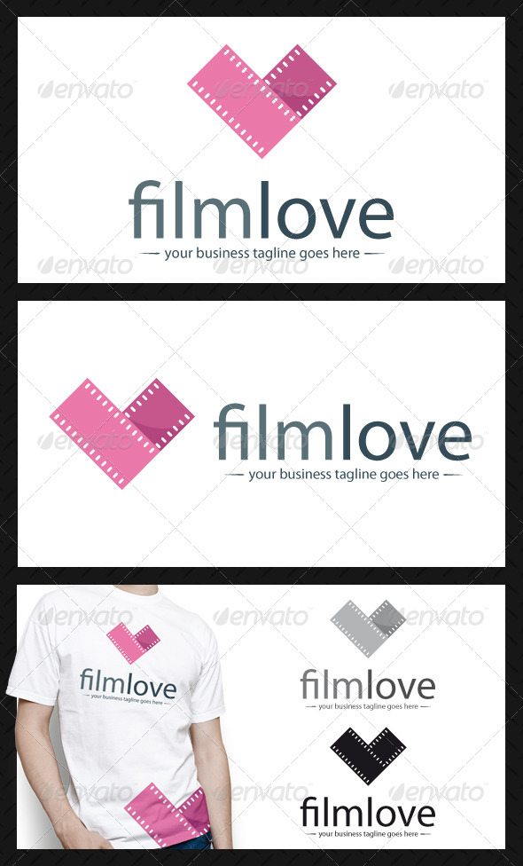 GraphicRiver Film Love Logo Template 3920325