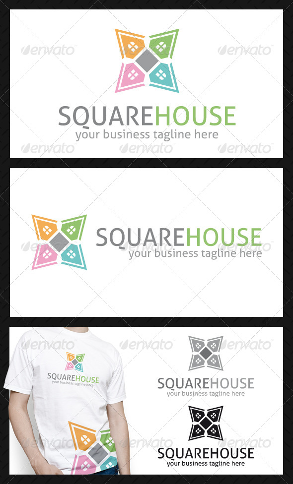 GraphicRiver Square House Logo Template 4049342