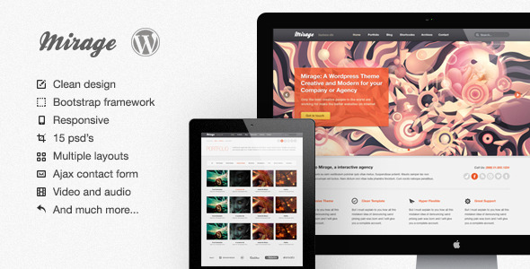 Mirage WordPress Version - Portfolio Creative