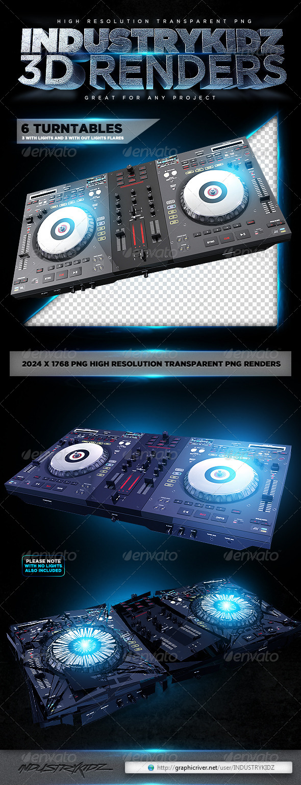 GraphicRiver Turntable 3D Render 4049593
