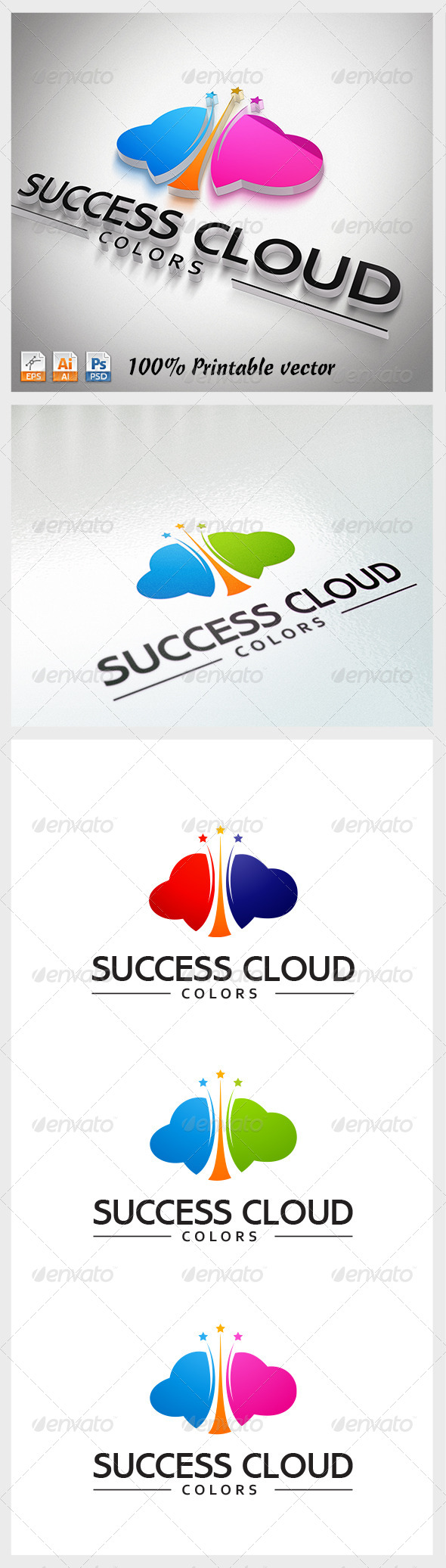 Success Cloud Logo - Abstract Logo Templates