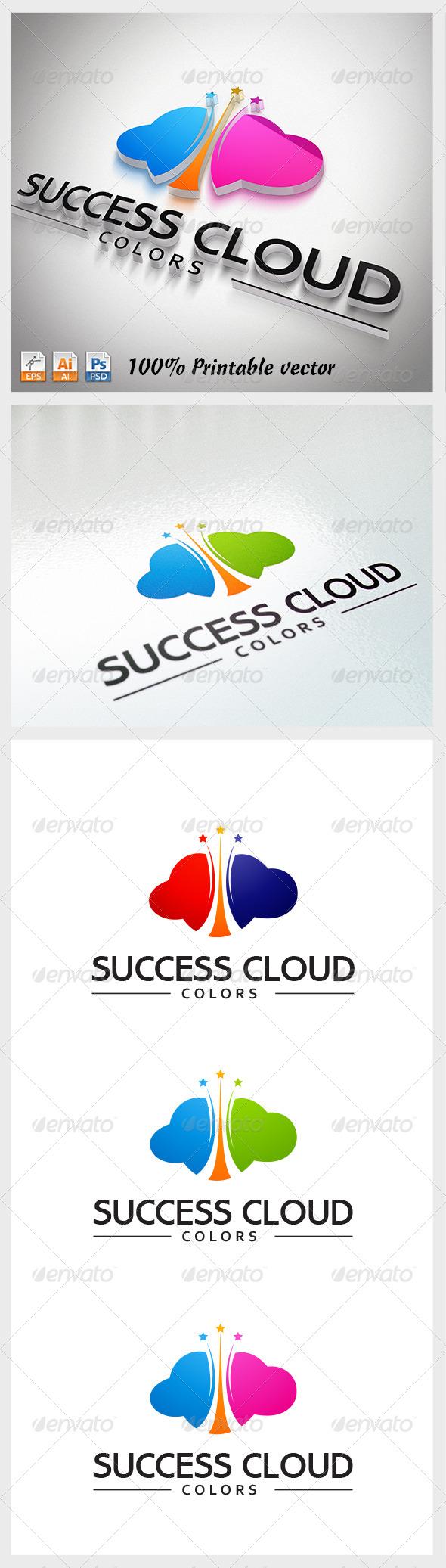 GraphicRiver Success Cloud Logo 3831041