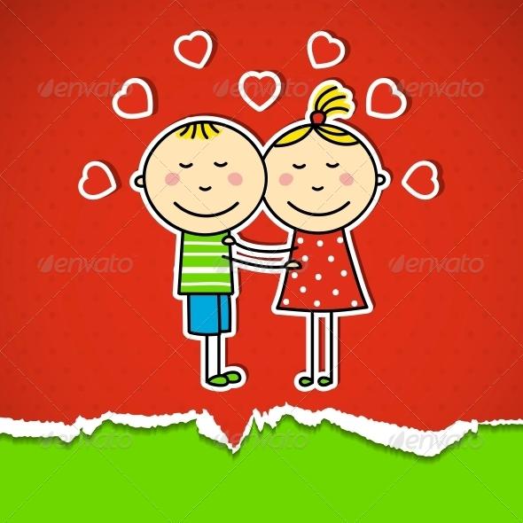 GraphicRiver Children in love 4050219