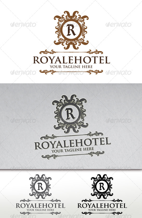 GraphicRiver Royale Hotel Crest Logo Template 3763114