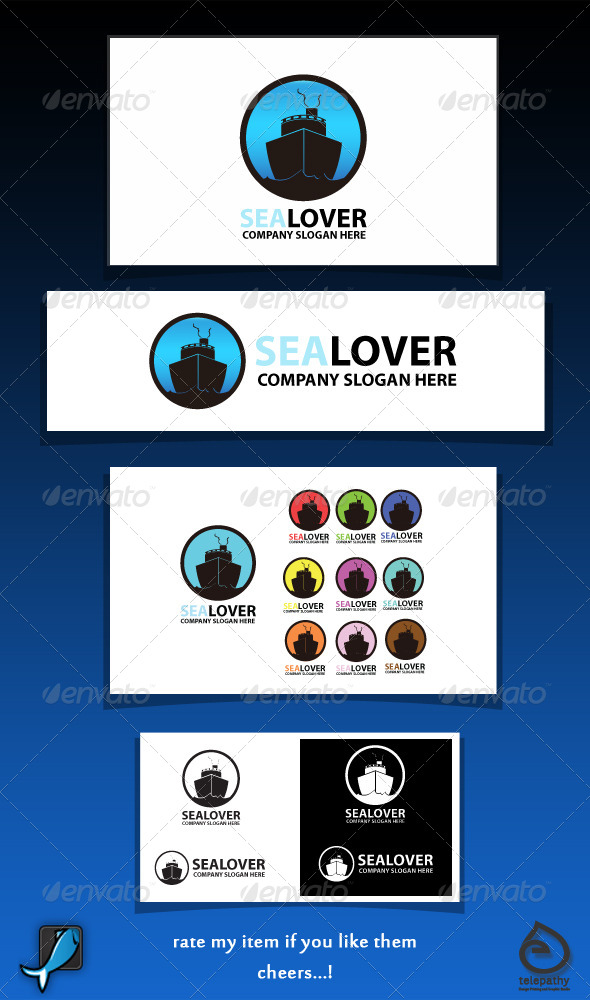 GraphicRiver Sea Lover sailorship logo 3837143