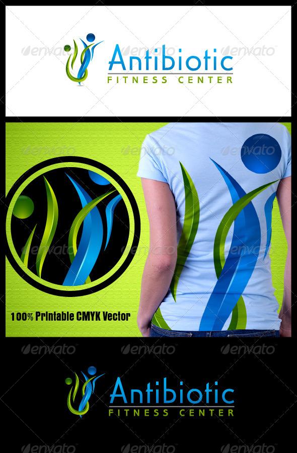 GraphicRiver Antibiotic Fitness Logo 3859900