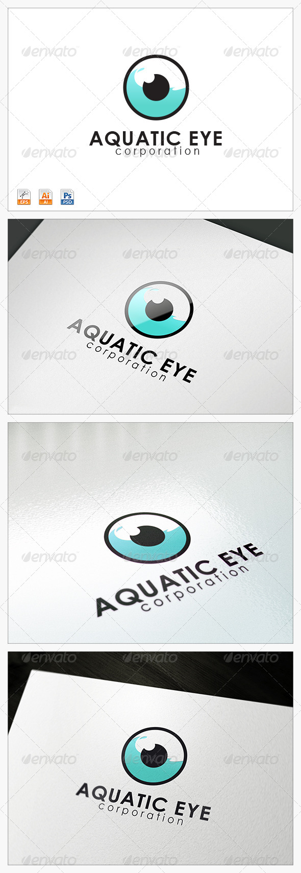 Aquatic Eye logo - Abstract Logo Templates