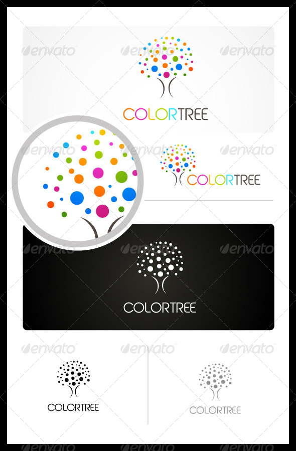 Color Tree - Vector Abstract