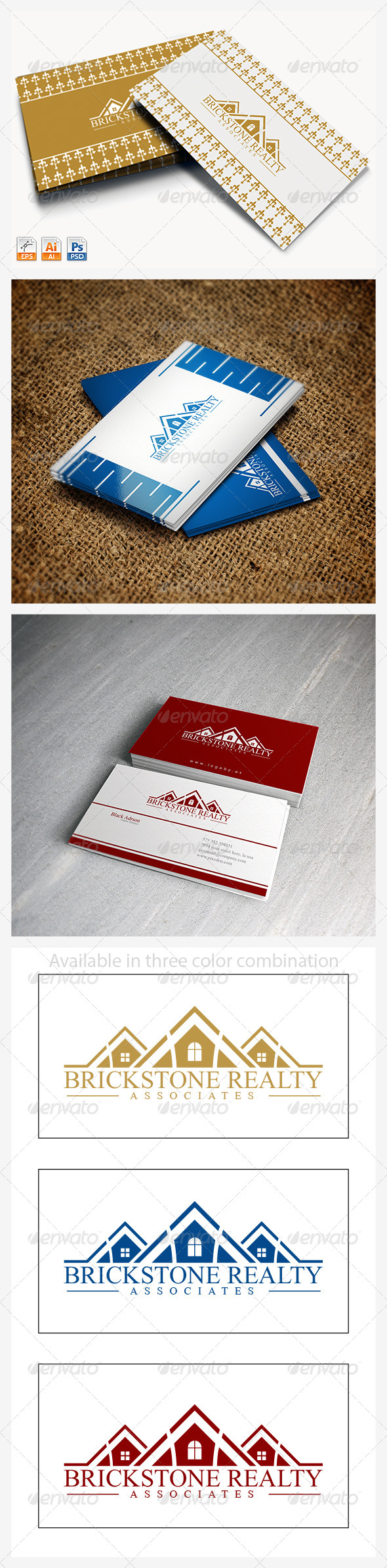 Brick Stone Realty - Buildings Logo Templates