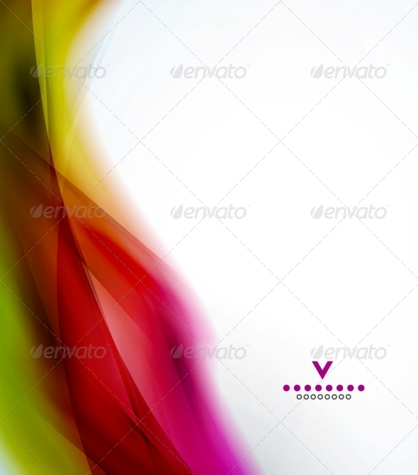 GraphicRiver Colorful abstract wave design template 4050585