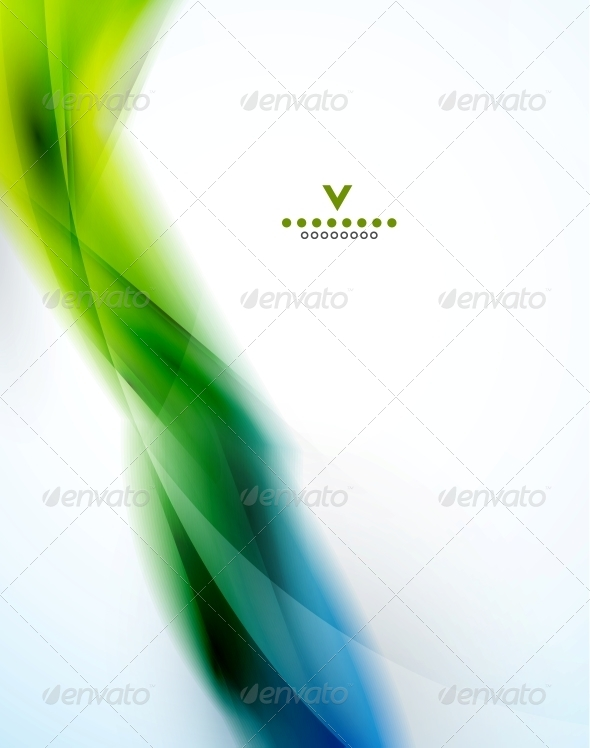 GraphicRiver Colorful abstract wave design template 4050632