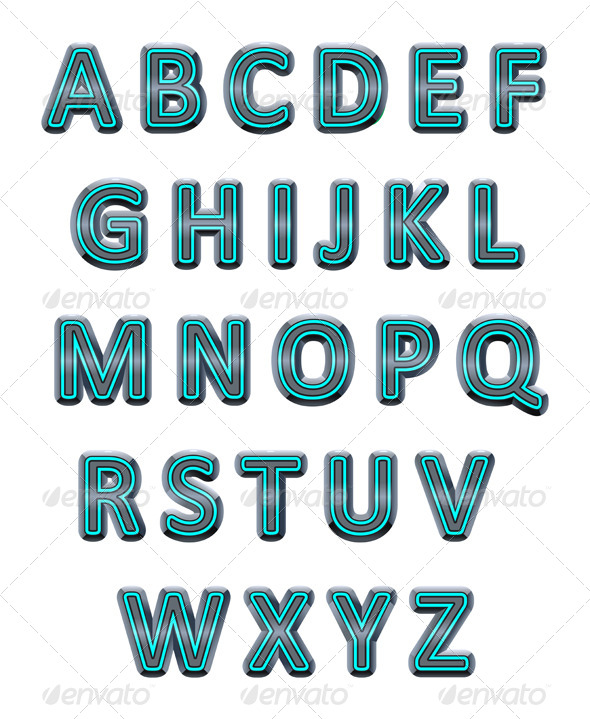 GraphicRiver Metallic Alphabet 4050633