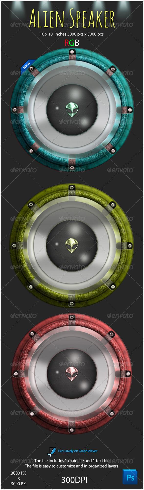 GraphicRiver Alien Speaker Graphic 4050757