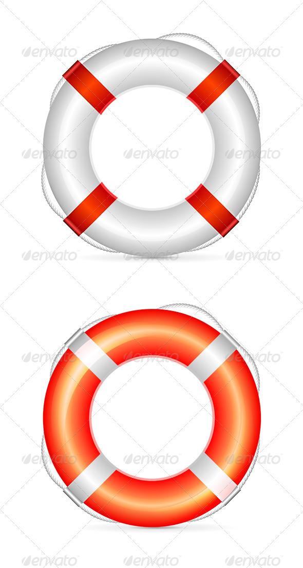GraphicRiver Lifebuoy Vector Illustration 4050959