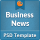 Business News PSD - ThemeForest Item for Sale