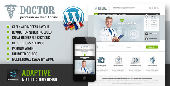 Doctor: Universal Medical WordPress Theme - Business Corporate