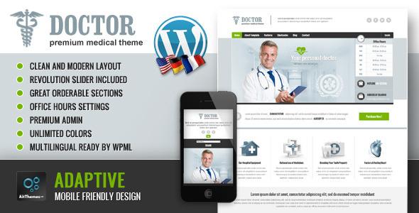 ThemeForest Doctor Universal Medical Wordpress Theme 4052132