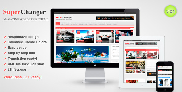 SuperChanger - Responsive WordPress Theme