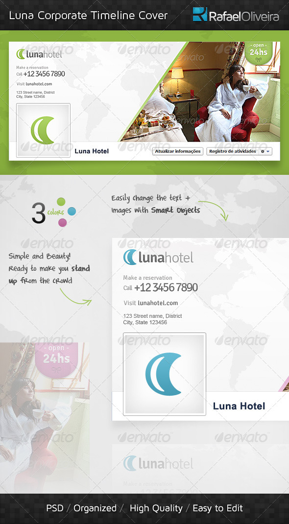 GraphicRiver Luna Corporate Timeline Cover 4052439