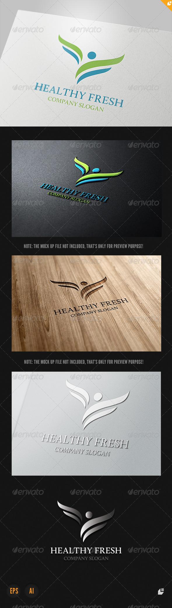 GraphicRiver Healthy Fresh Logo 4052810