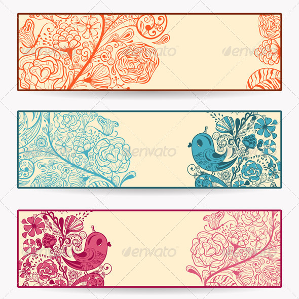 GraphicRiver Vector Spring Banners 4053167